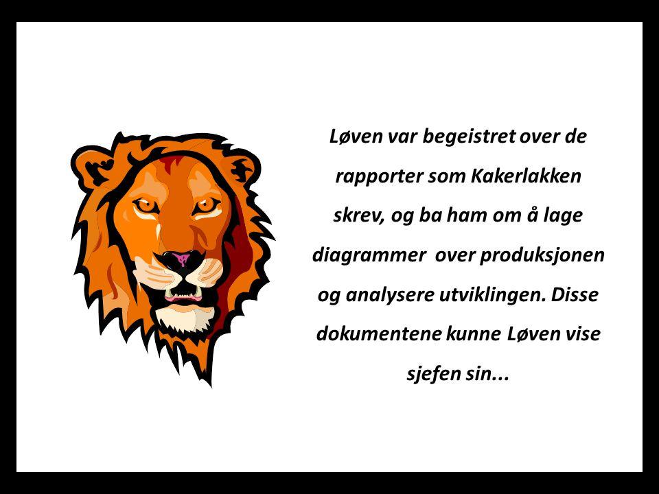 Løven var begeistret over de rapporter som Kakerlakken skrev, og ba ham om å lage diagrammer over produksjonen og analysere utviklingen. Disse dokumen