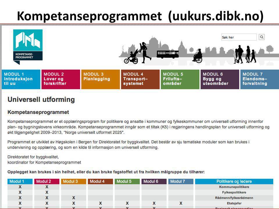 Kompetanseprogrammet (uukurs.dibk.no) )