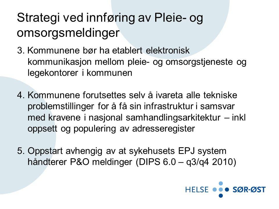 Strategi ved innføring av Pleie- og omsorgsmeldinger 3.