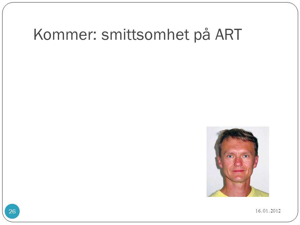 Kommer: smittsomhet på ART 16.01.2012 26