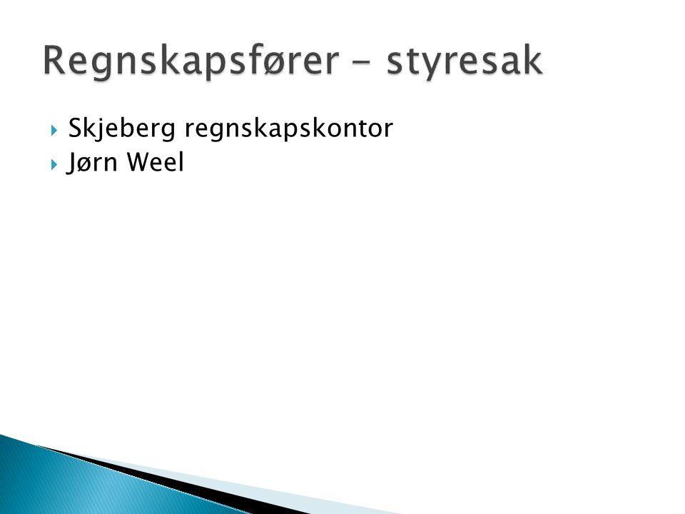  Skjeberg regnskapskontor  Jørn Weel