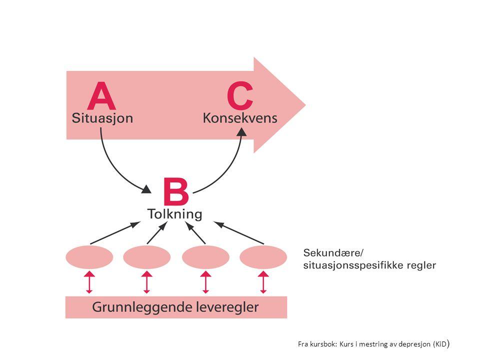 Fra kursbok: Kurs i mestring av depresjon (KiD )