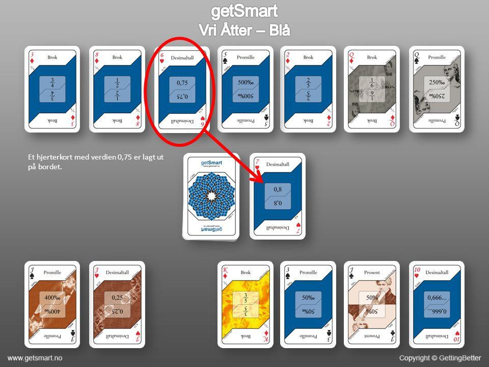 Verdien på kortet er du trakk inn er 0,15 Du har altså fortsatt ingen verdier som tilvarer ⅙ (heller ikke ved å kombinere to kort).