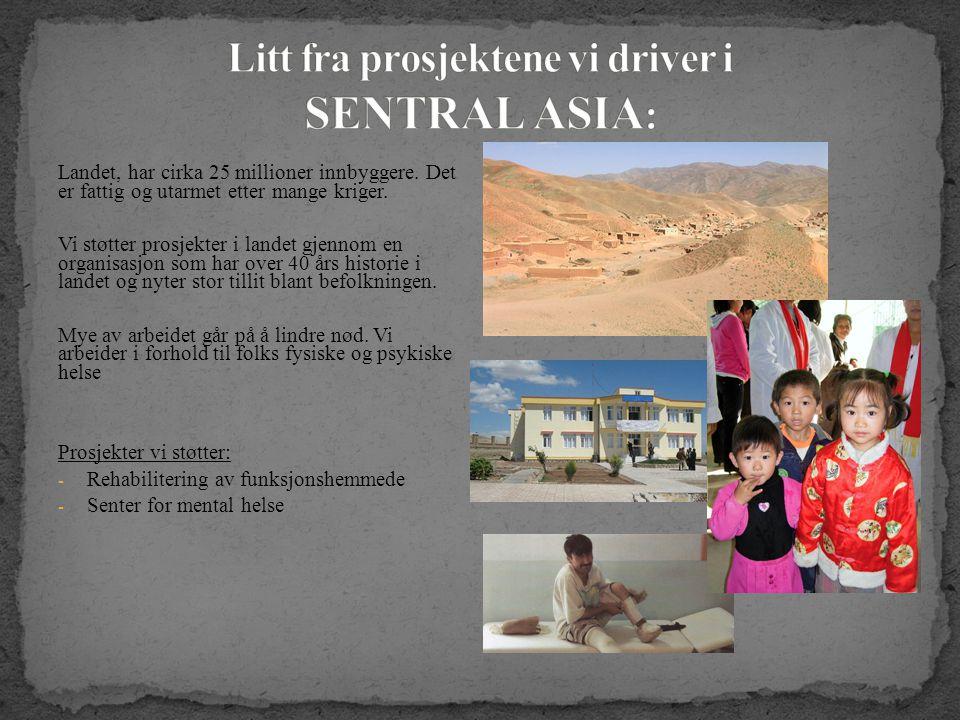 Landet, har cirka 25 millioner innbyggere. Det er fattig og utarmet etter mange kriger.