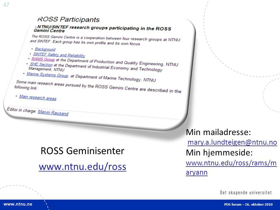 47 PDS forum – 26.