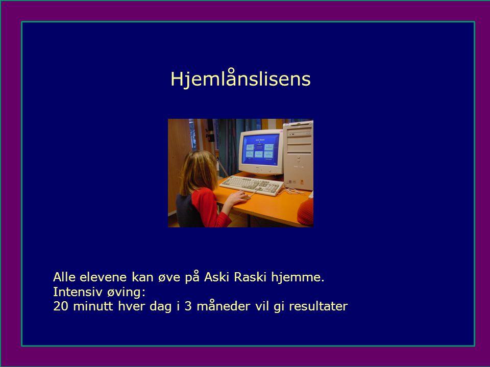 Alle elevene kan øve på Aski Raski hjemme.