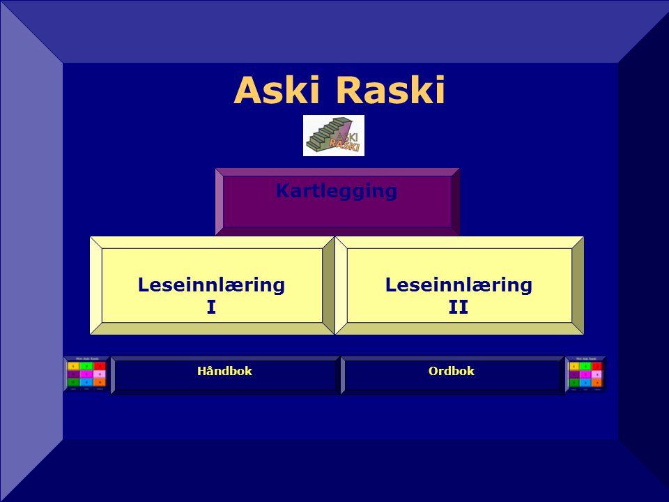Aski Raski 12 Håndbok Leseinnlæring II Kartlegging Leseinnlæring I Ordbok