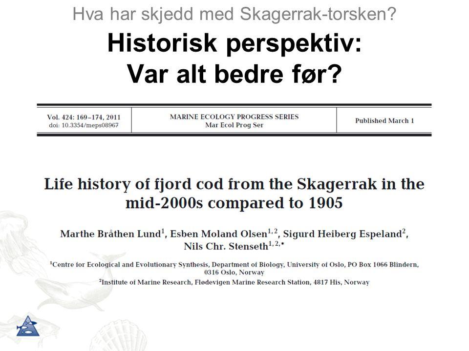 Merkeforsøk Hva har skjedd med Skagerrak-torsken.