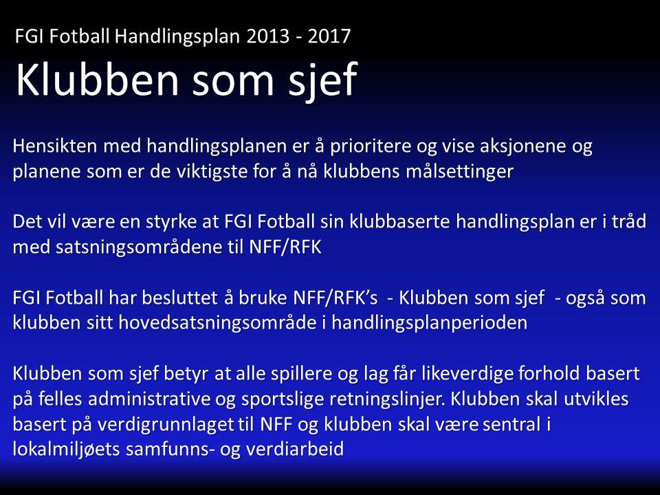 FGI Fotball Handlingsplan 2013 - 2017 Trenerkompetanse Sportsplan