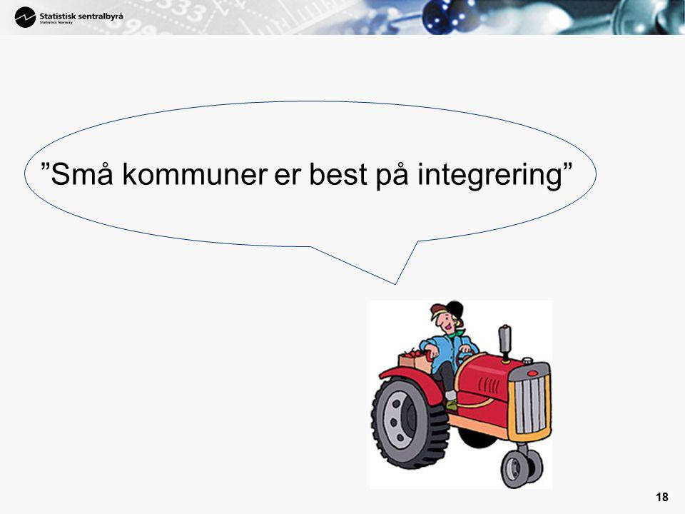 """18 """"Små kommuner er best på integrering"""""""