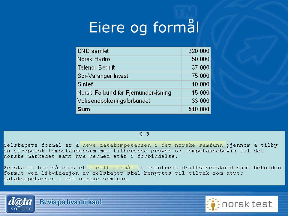 4 Utvikling •Etablert 1996 •320 testsentre, 40 skoler •35 Attføringsbedrifter •200.000 Kompetansebevis •750.000 sertifiserende tester •20.000 eBorger •KvikkSjekk •Norsk Test