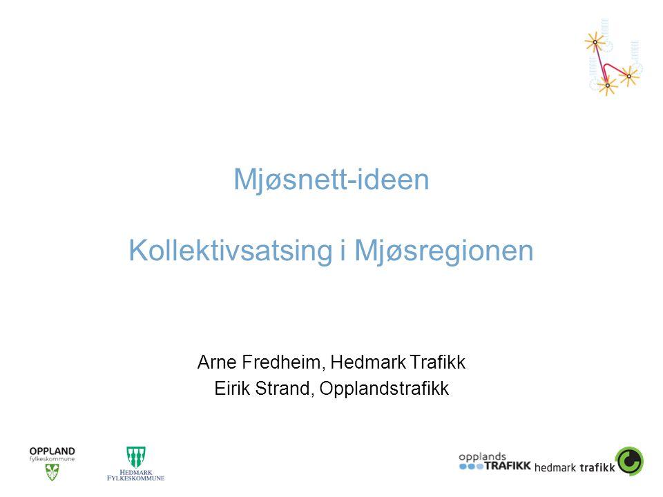 Mjøsnett-ideen Kollektivsatsing i Mjøsregionen Arne Fredheim, Hedmark Trafikk Eirik Strand, Opplandstrafikk
