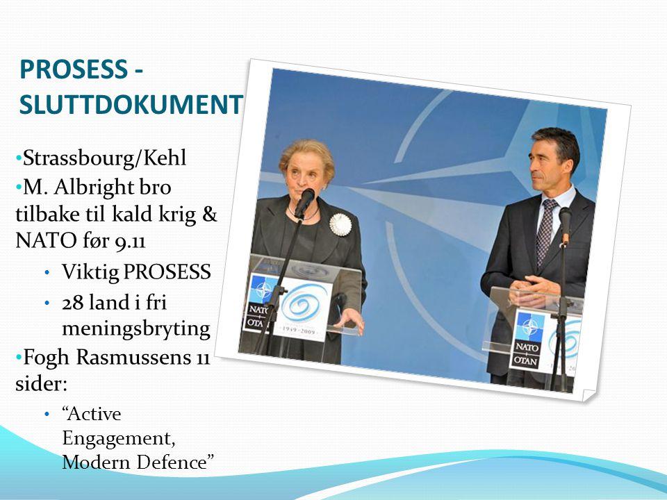 Lisboa 2010: Toppmøte i R 1.Retrett Afghanistan 2.