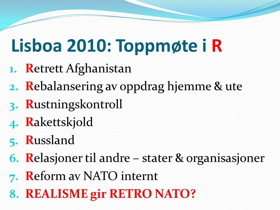 RETRETT AFGHANISTAN • Hjem 2014 – start 2011.• Budskap til to ulike mottakere: 1.