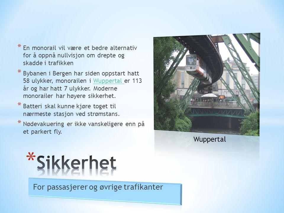 * En monorail vil være et bedre alternativ for å oppnå nullvisjon om drepte og skadde i trafikken * Bybanen i Bergen har siden oppstart hatt 58 ulykke
