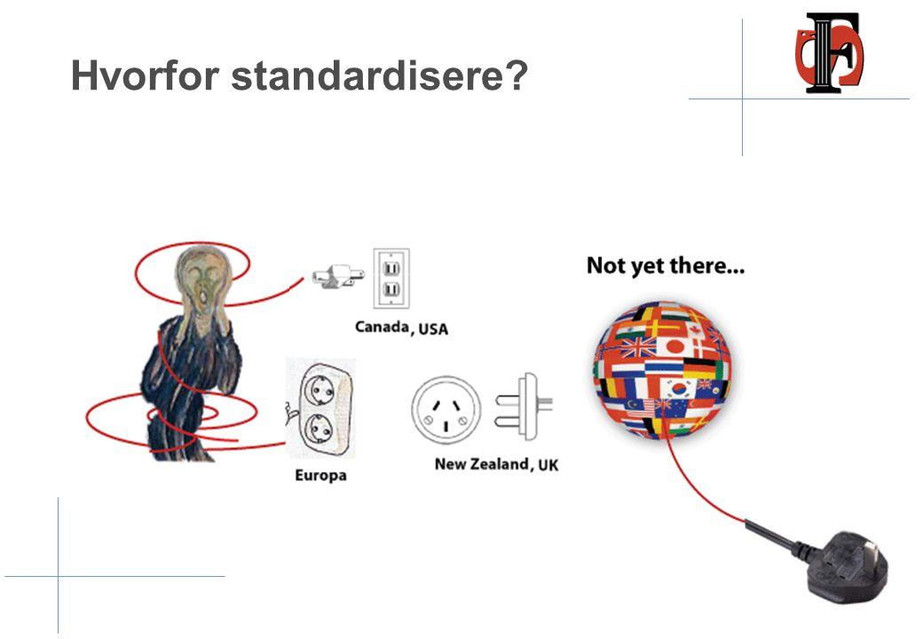 Hvorfor standardisere?