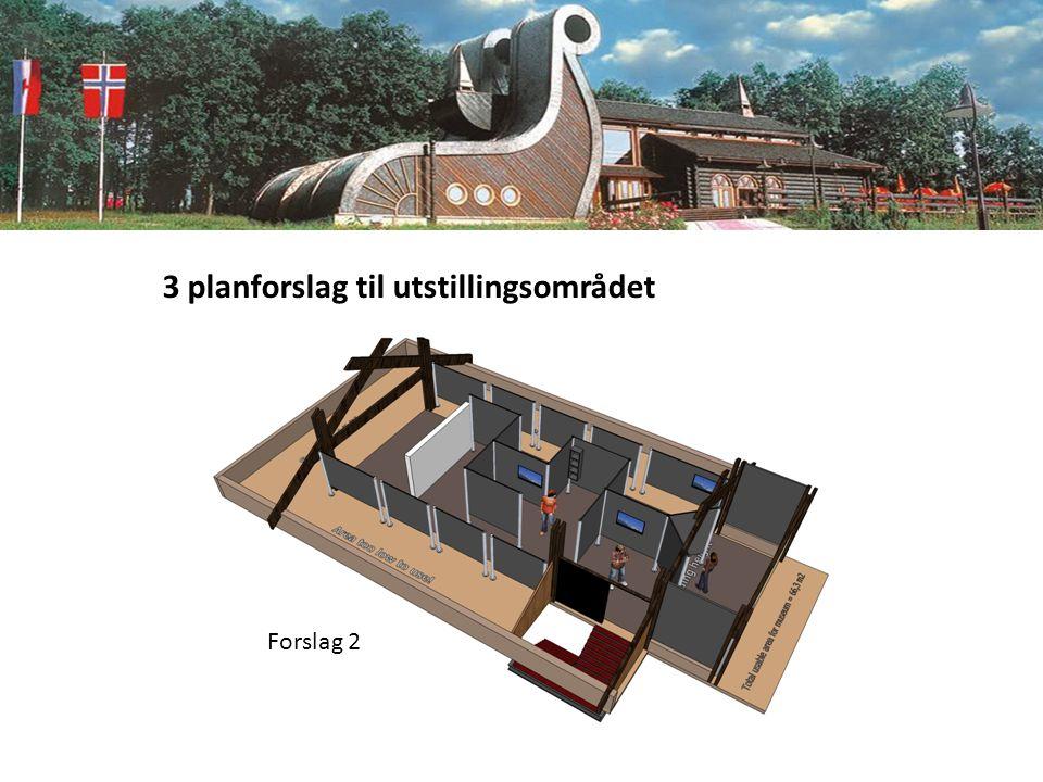 3 planforslag til utstillingsområdet Forslag 2