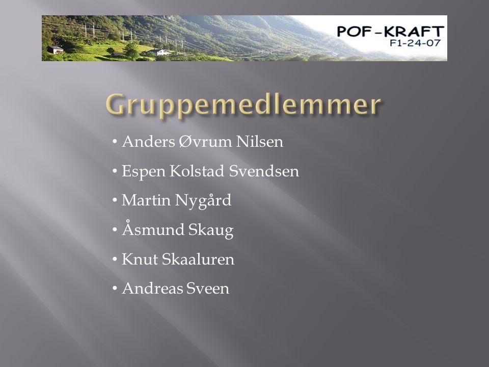 • Anders Øvrum Nilsen • Espen Kolstad Svendsen • Martin Nygård • Åsmund Skaug • Knut Skaaluren • Andreas Sveen