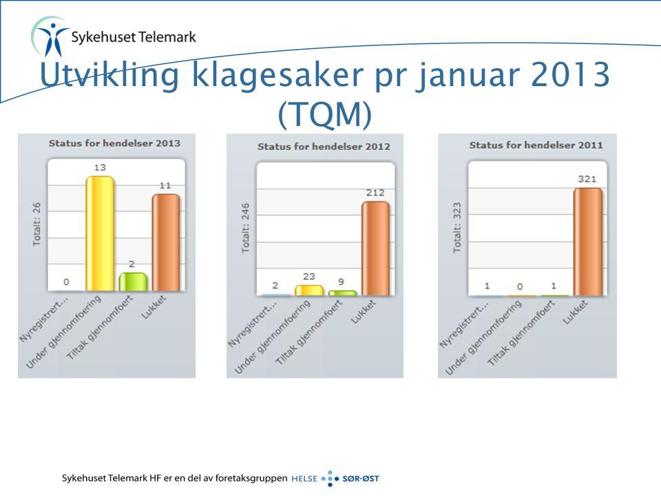 Utvikling klagesaker pr februar 2013 (TQM)
