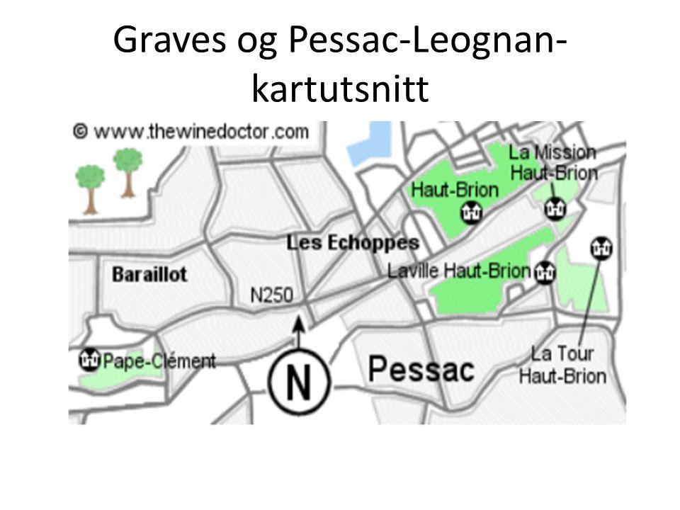 Graves og Pessac-Leognan- kartutsnitt