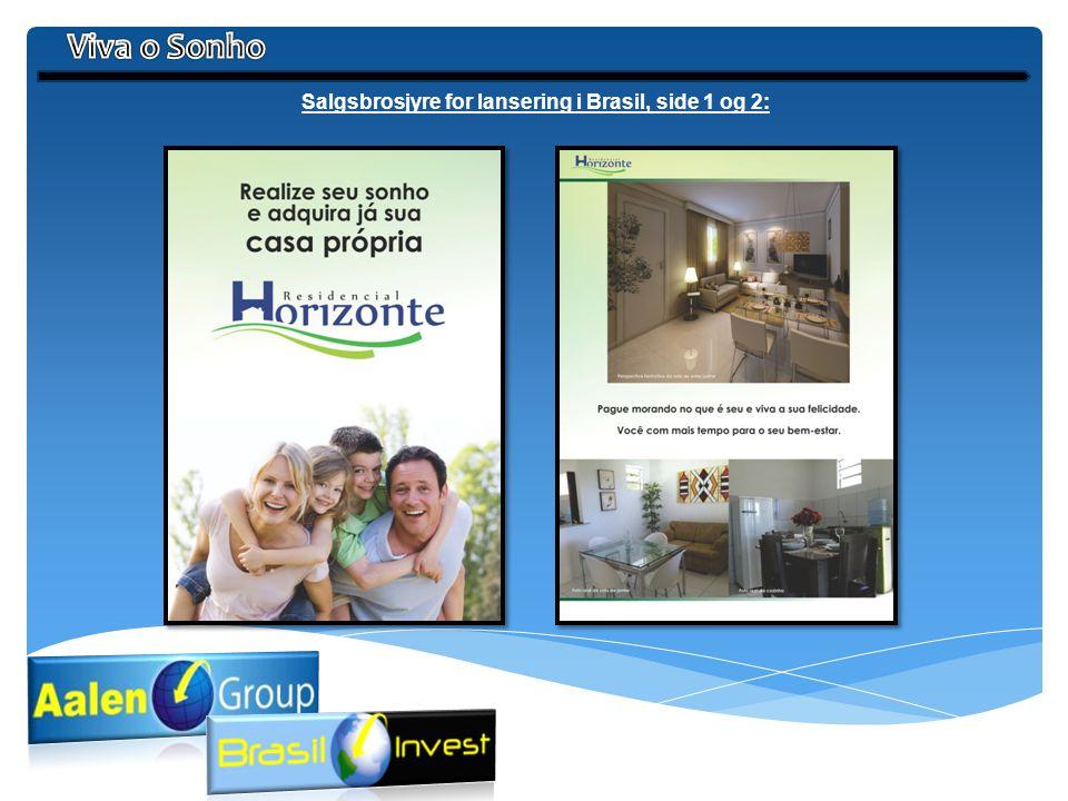 Salgsbrosjyre for lansering i Brasil, side 1 og 2: