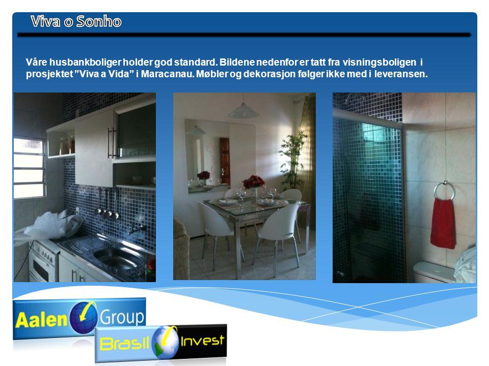 """Våre husbankboliger holder god standard. Bildene nedenfor er tatt fra visningsboligen i prosjektet """"Viva a Vida"""" i Maracanau. Møbler og dekorasjon føl"""
