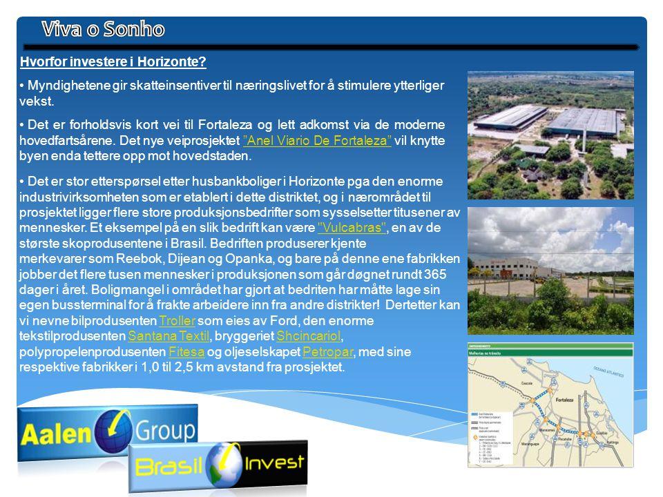 Hvorfor investere i Horizonte? • Myndighetene gir skatteinsentiver til næringslivet for å stimulere ytterliger vekst. • Det er forholdsvis kort vei ti