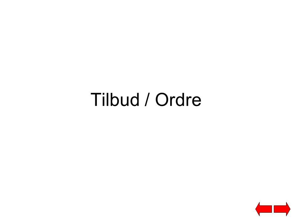 Tilbud/Ordre. Denne kolonnen viser ordre og tilbud som er registrert i ditt ERP system.