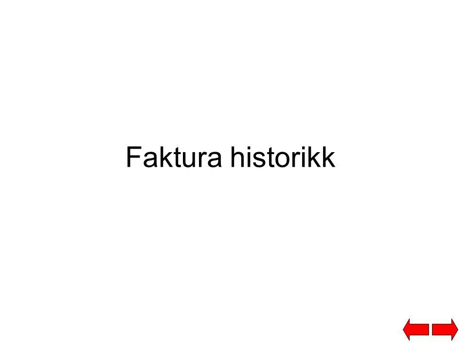 Faktura historikk