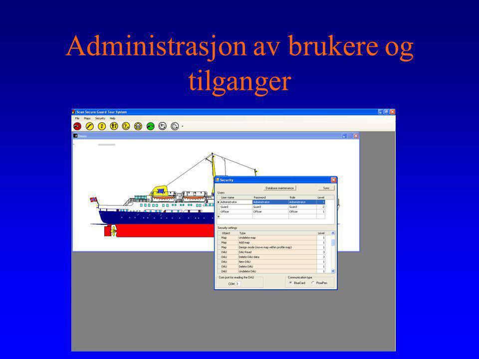 Administrasjon av brukere og tilganger