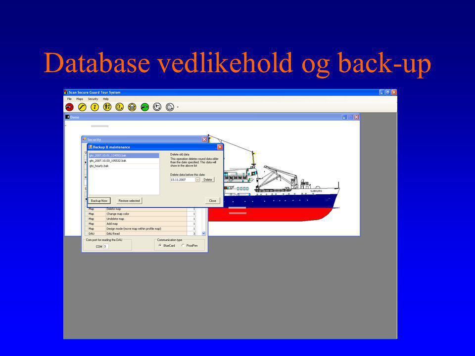 Database vedlikehold og back-up