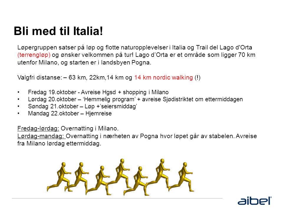 Bli med til Italia.