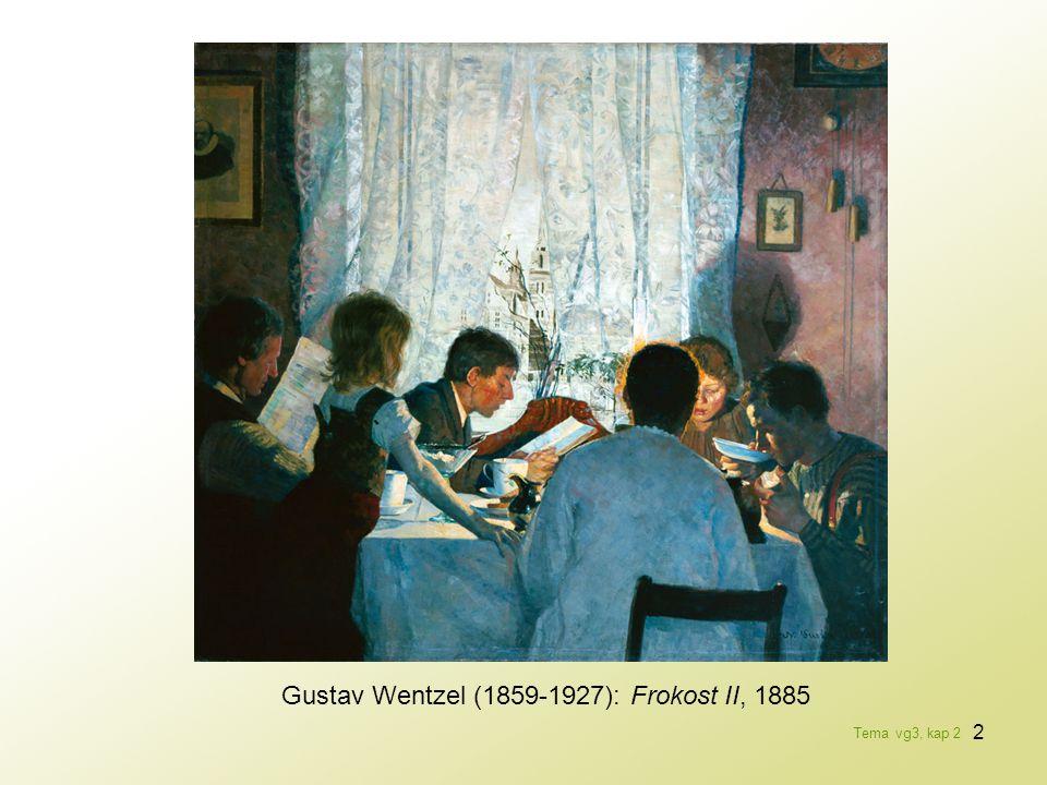 2 Gustav Wentzel (1859-1927): Frokost II, 1885 Tema vg3, kap 2