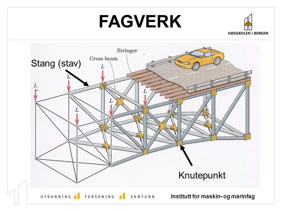 Institutt for maskin- og marinfag FAGVERK Stang (stav) Knutepunkt
