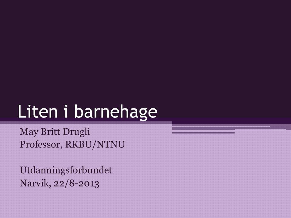 Referanser finnes i OG: Broberg, Hagström & Broberg (2012): Anknytning i förskolan