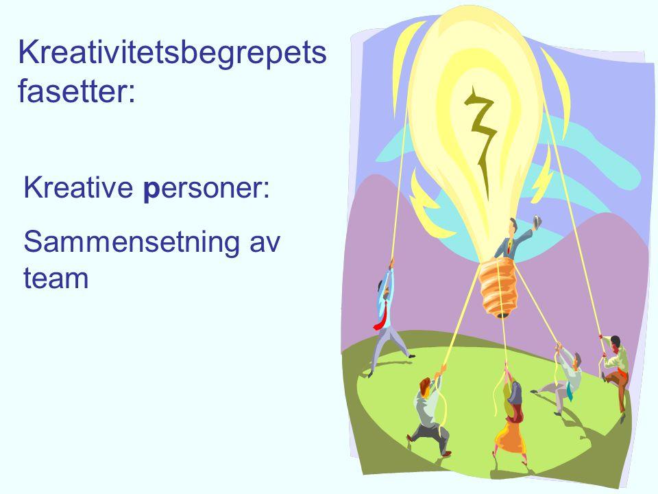 Kreativitetsbegrepets fasetter: Kreative prosesser i team