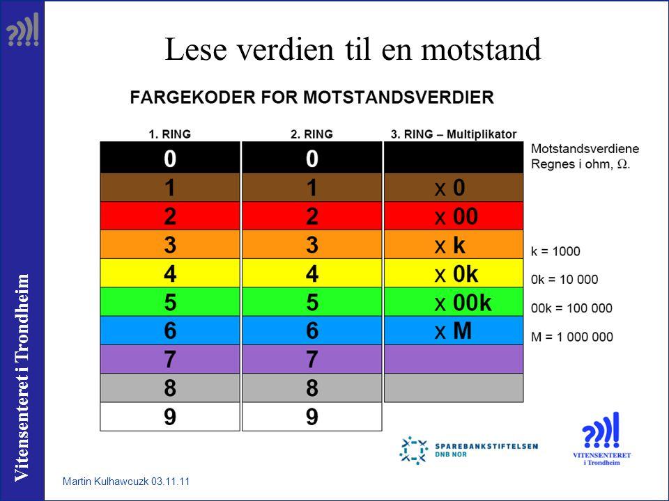 Vitensenteret i Trondheim Lese verdien til en motstand Martin Kulhawcuzk 03.11.11