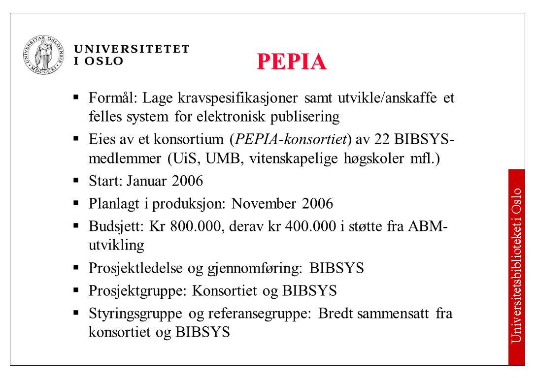 Universitetsbiblioteket i Oslo Alle må etablere åpne institusjonelle arkiv.