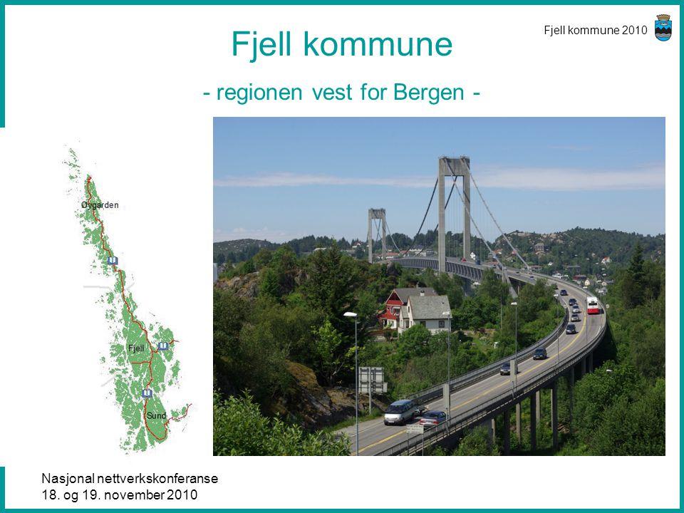 Nasjonal nettverkskonferanse 18. og 19. november 2010 Fjell kommune 2010 Fjell kommune - regionen vest for Bergen -
