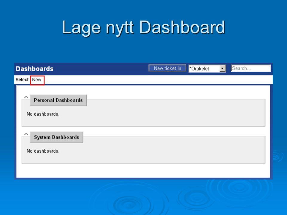 Lage nytt Dashboard