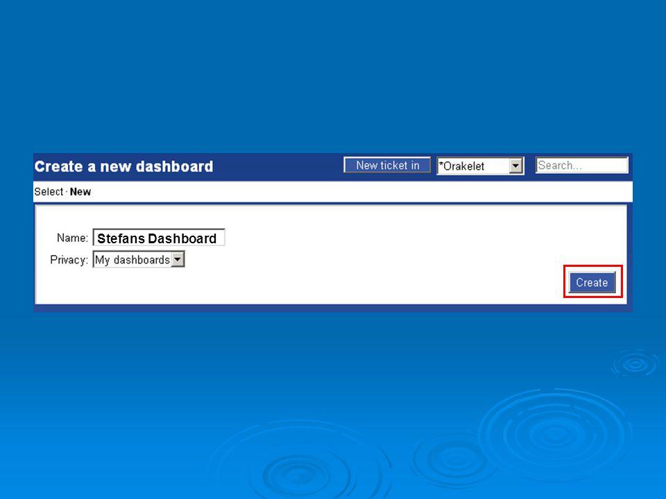 Du har nå laget et Dashboard Du har nå laget et nytt Dashboard.