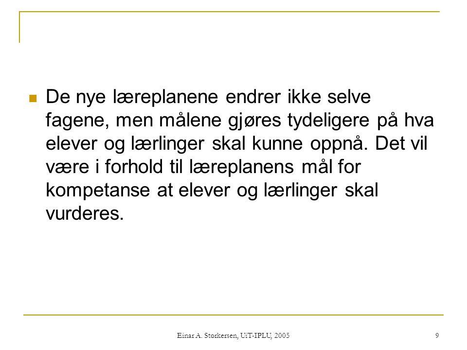 Einar A.Størkersen, UiT-IPLU, 2005 100 Naturfag - Forskerspiren 7.