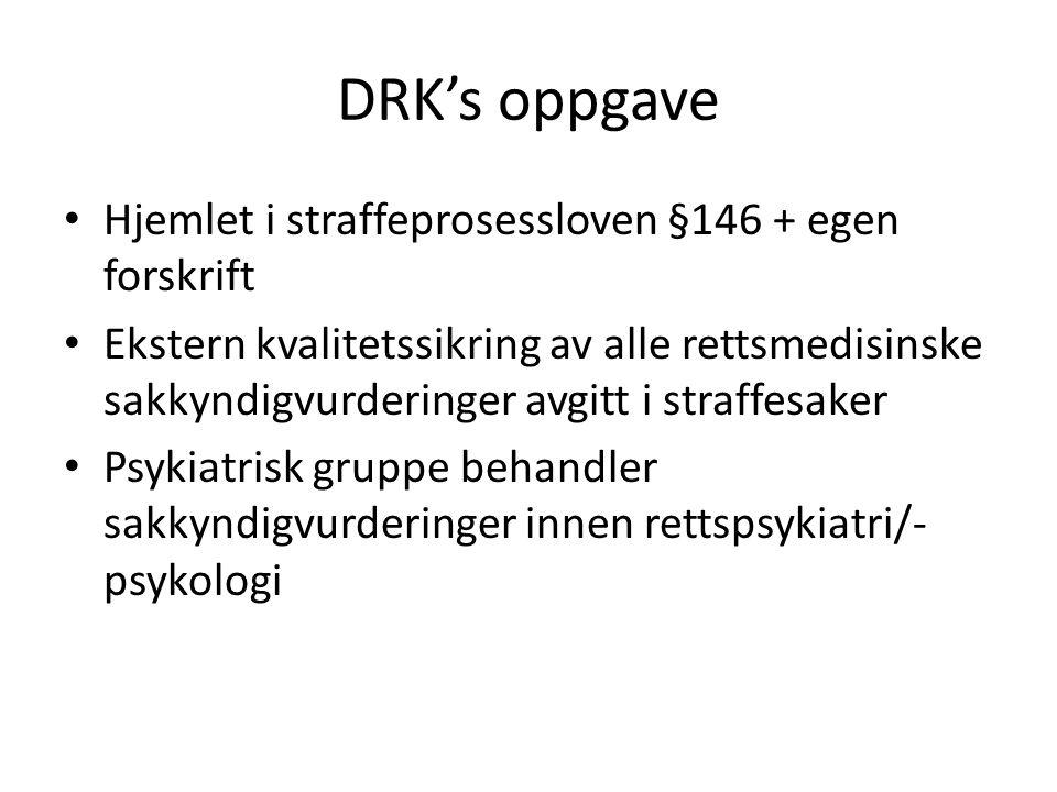 DRK's behandling av sakene • Rimelig mandat.