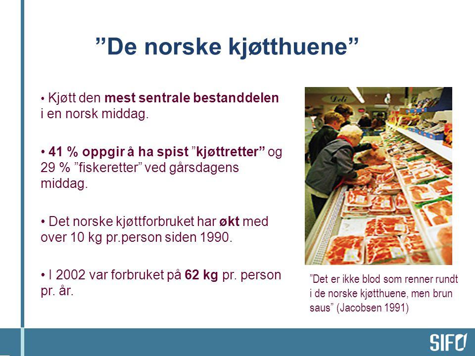 • Kjøtt den mest sentrale bestanddelen i en norsk middag.