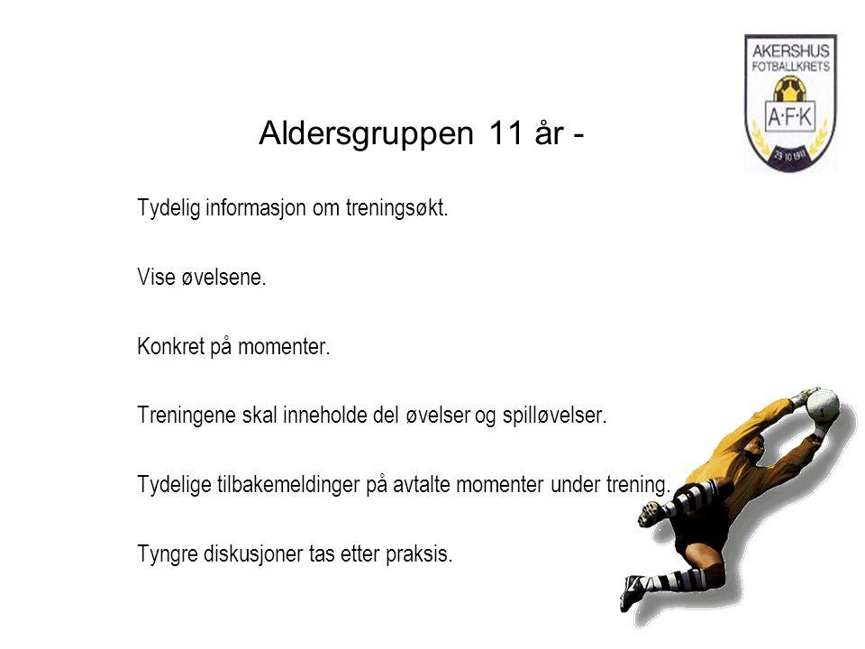 Aldersgruppen 11 år - Tydelig informasjon om treningsøkt.