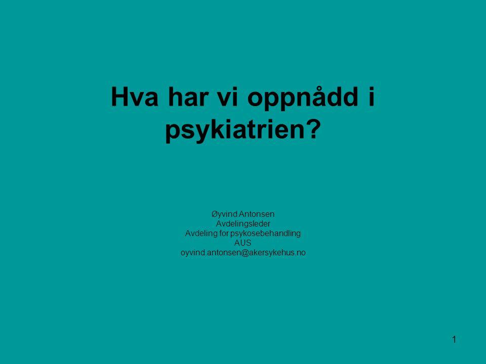 2 Tvang i psykiatrien Gjennombruddsprosjektet 2000/2001 Aker universitetssykehus Akutt avdelingen