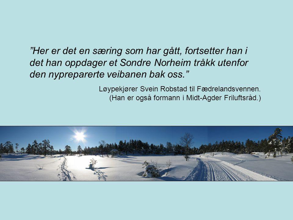 Folkehelse •Det er BRA at folk går på ski, og for mange blir terskelen lavere ved oppkjørte spor.