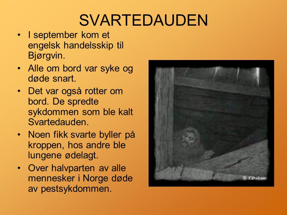 •I september kom et engelsk handelsskip til Bjørgvin.