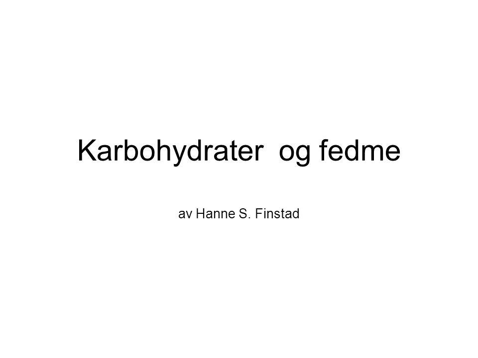 Karbohydrater og fedme av Hanne S. Finstad