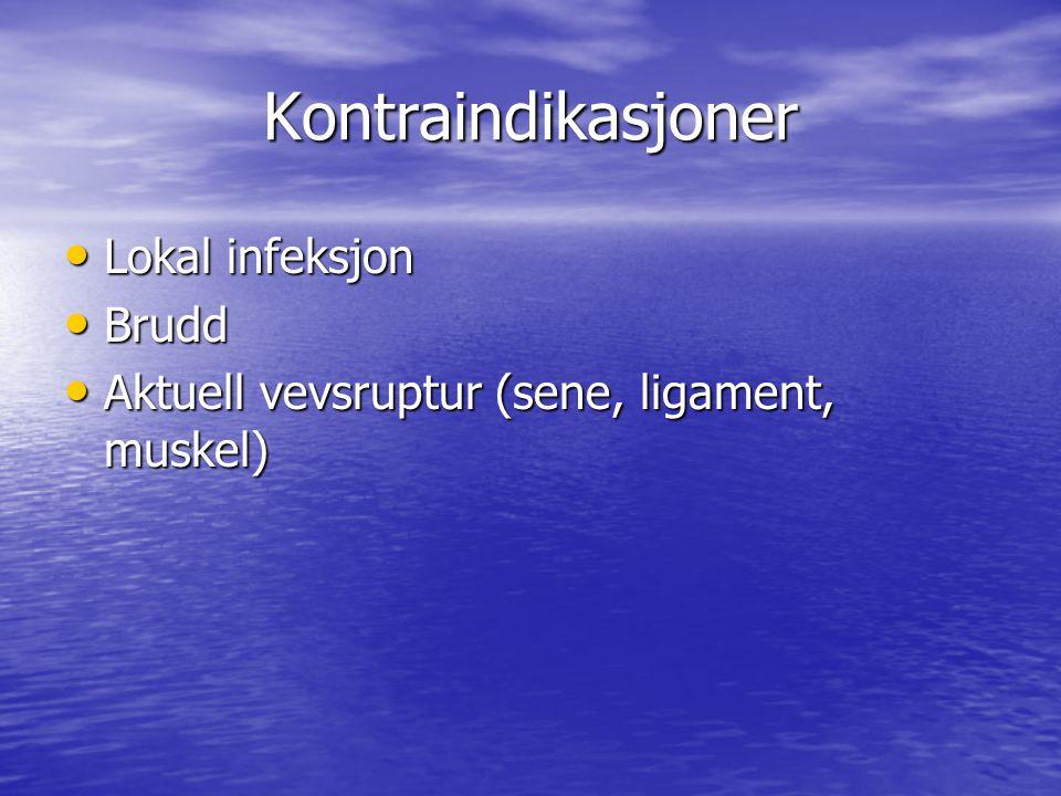 Internasjonale retningslinjer (Fra Norsk fysikalsk medisin 2.